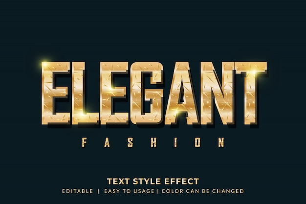 Elegant golden text style effect for fashion brand Premium Vector