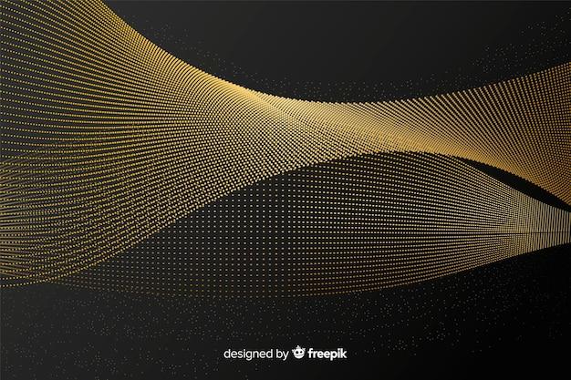 Elegant golden wave background Free Vector