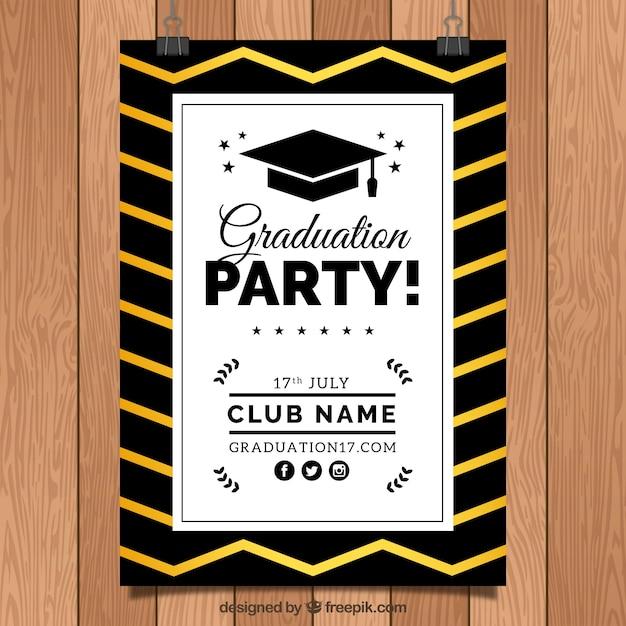 Elegant graduation party invitation vector free download elegant graduation party invitation free vector filmwisefo