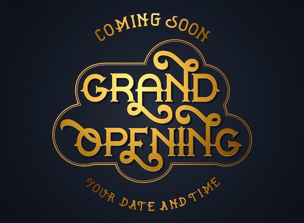 Elegant grand opening invitation cards Premium Vector