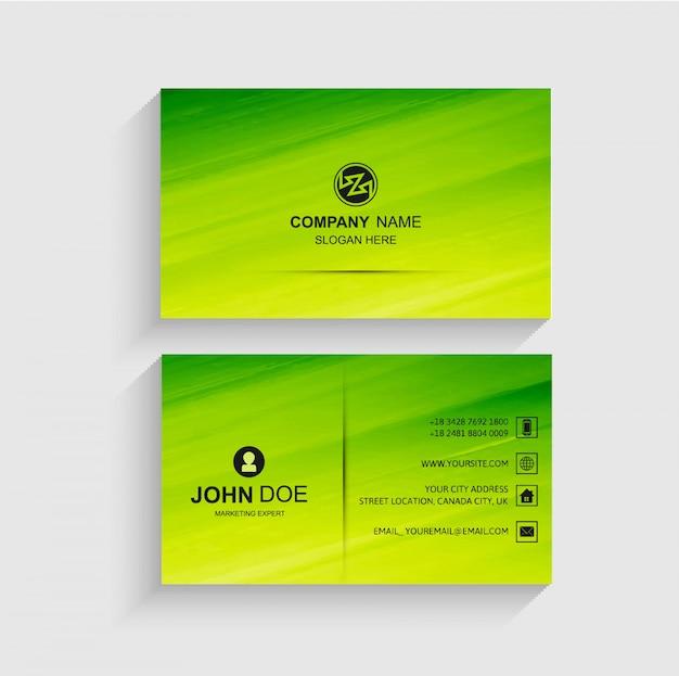Elegant green business card template vector vector free download elegant green business card template vector free vector reheart Image collections