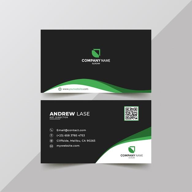 Elegant green business card Premium Vector