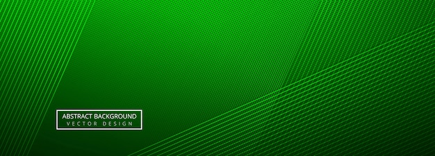 Elegant green creative lines header template background Free Vector