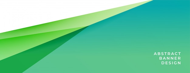 Elegant green and turquoise background banner in geometric style Free Vector