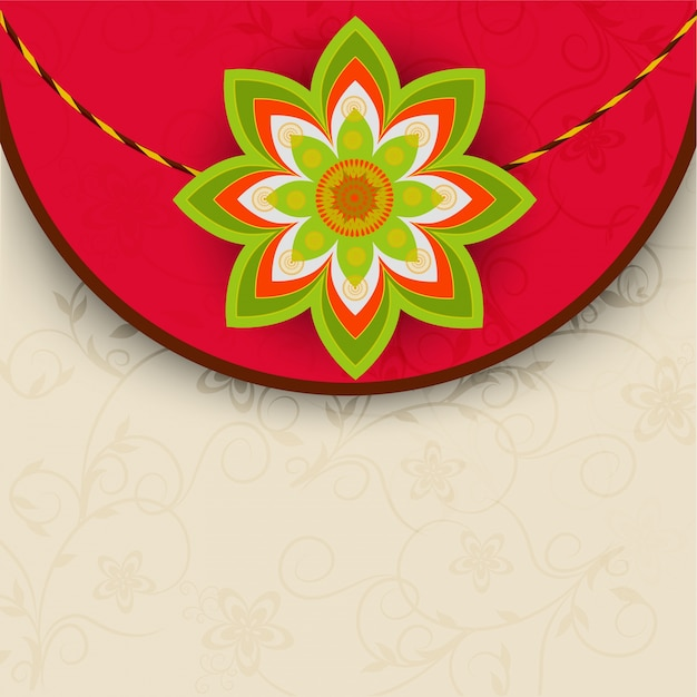 Elegant greeting card design with beautiful rakhi for indian elegant greeting card design with beautiful rakhi for indian festival happy raksha bandhan free m4hsunfo