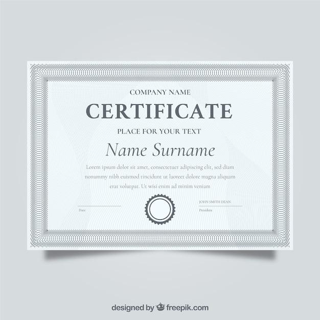 Elegant Grey Certificate Vector Free Download