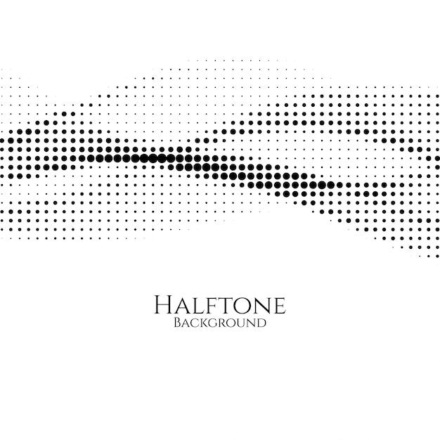 Elegant halftone design vector background Free Vector