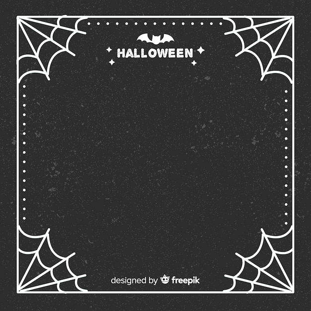 elegant halloween frame with flat design free vector