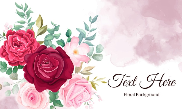 Elegant hand drawing floral background Free Vector