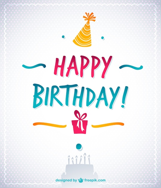 Elegant happy birthday card Vector – Free Textable Birthday Cards