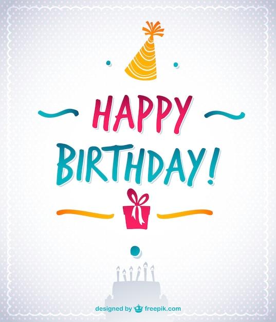 Elegant Happy Birthday Card Free Vector
