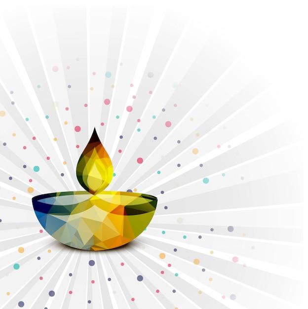 Elegant happy diwali decorative colorful background vector Free Vector