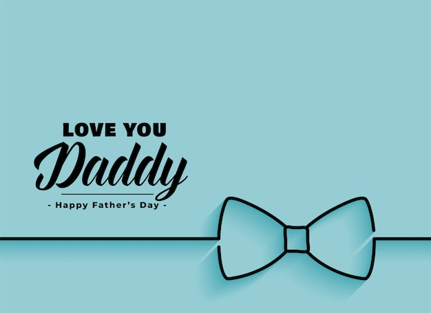 Elegant happy fathers day banner Free Vector