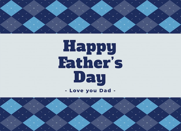 Elegant happy fathers day lovely background Free Vector