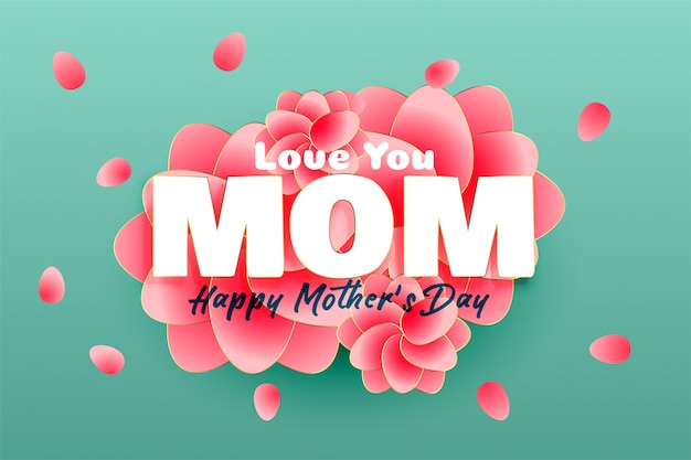 Elegant happy mother's day background Free Vector