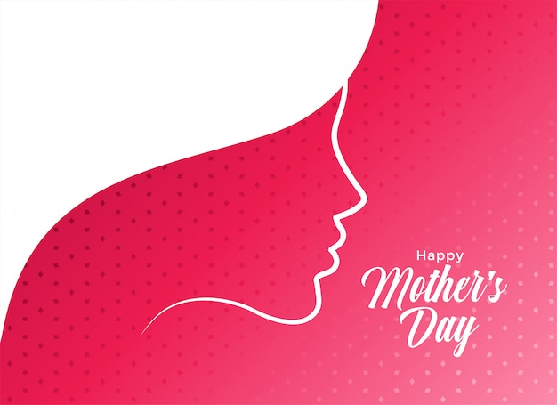 Elegant happy mother's day card design Free Vector