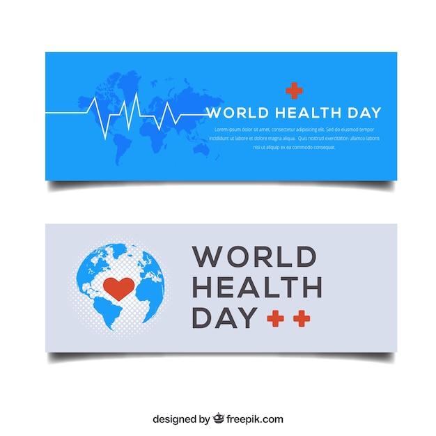 Elegant health day banners