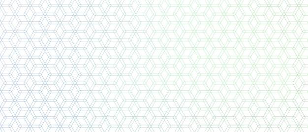 Elegant hexagonal line pattern Free Vector