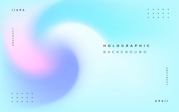 Elegant holographic abstract background Free Vector