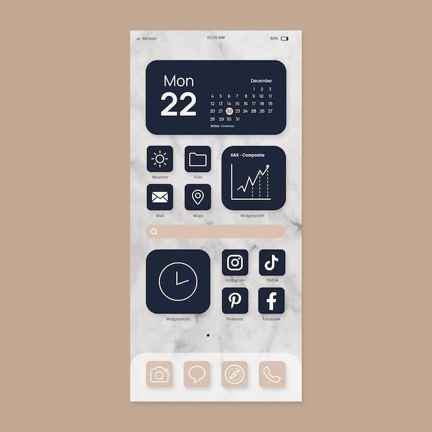 Elegante schermata iniziale Vettore gratuito