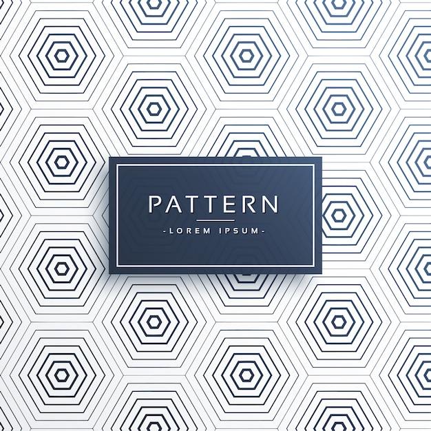 Elegant honeycomb or hexagonal pattern background Free Vector