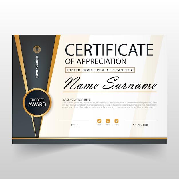 Elegant horizontal certificate illustration