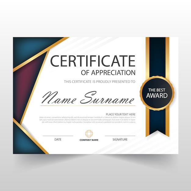 Elegant horizontal diploma design