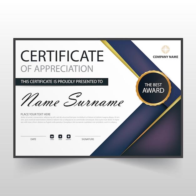 Elegant horizontal diploma