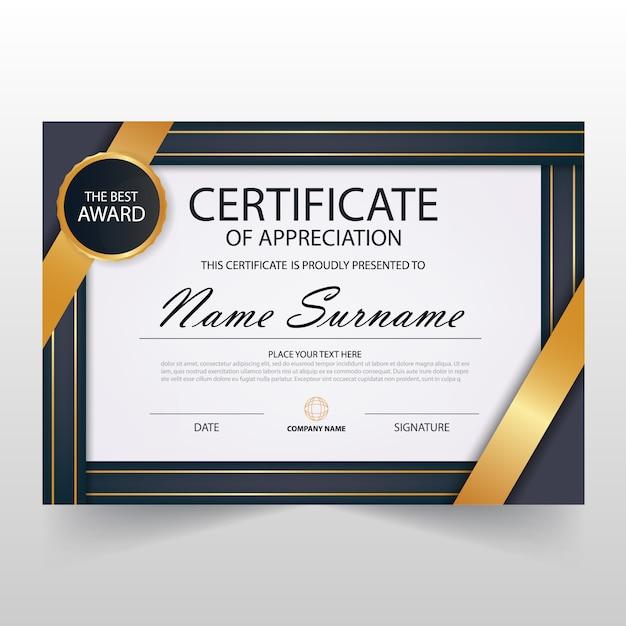 Elegant horizontal luxury diploma template
