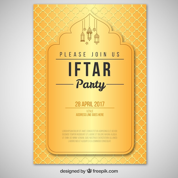 Elegant iftar golden invitation vector free download elegant iftar golden invitation free vector stopboris Gallery