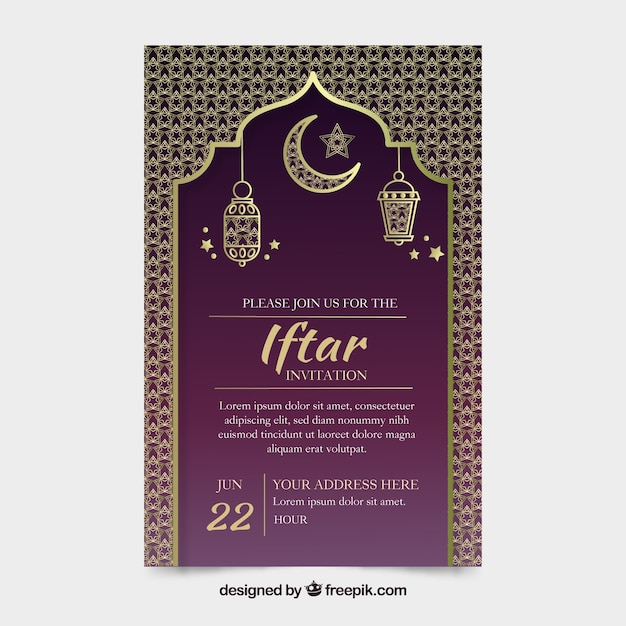 Elegant iftar invitation template vector free download elegant iftar invitation template free vector stopboris Gallery