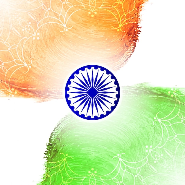 Elegant indian independence day design