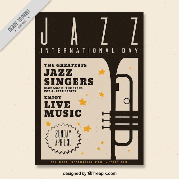 Elegant jazz brochure Free Vector