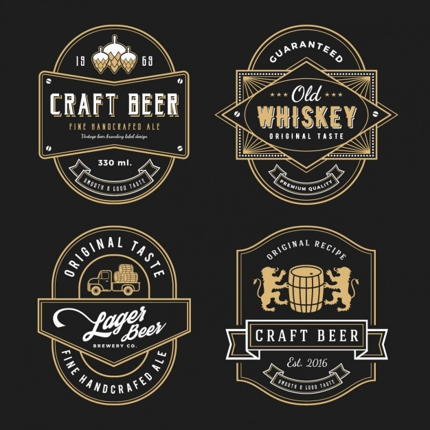 elegant label design vector free download
