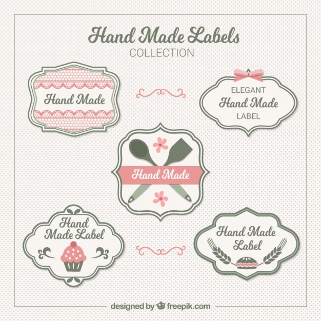 elegant labels about crafts vector free download
