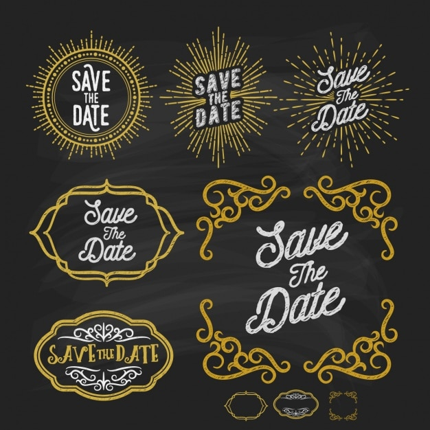 elegant labels collection vector free download