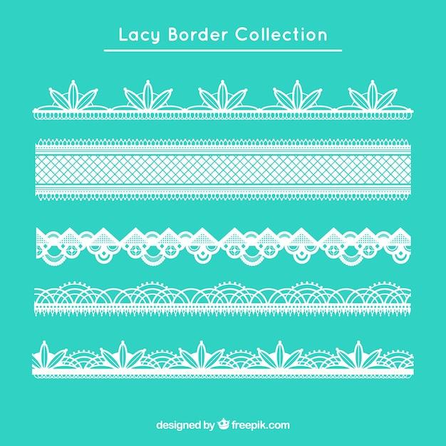 Elegant lace borders in flat design Free Vector