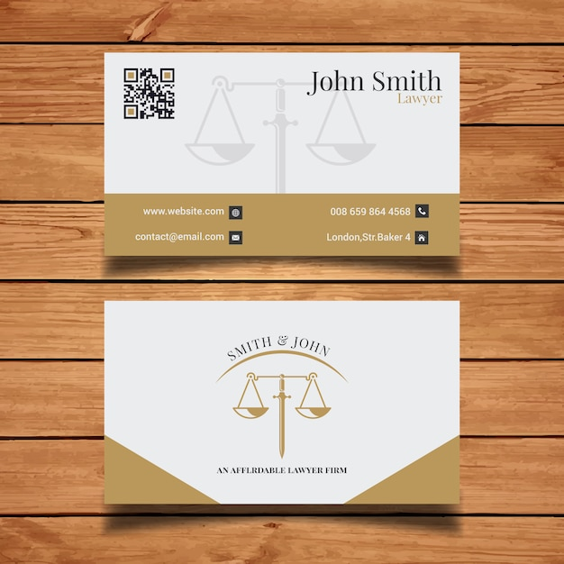 Elegant lawyer business card vector free download elegant lawyer business card free vector reheart Images