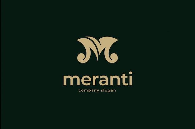 Elegant letter m logo template Premium Vector