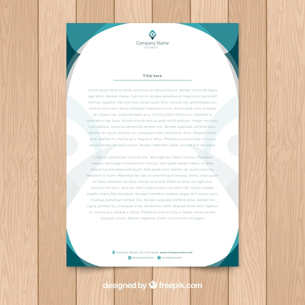 Elegant letterhead template Vector | Free Download