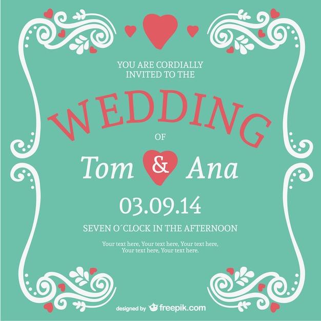 Elegant lettering wedding card