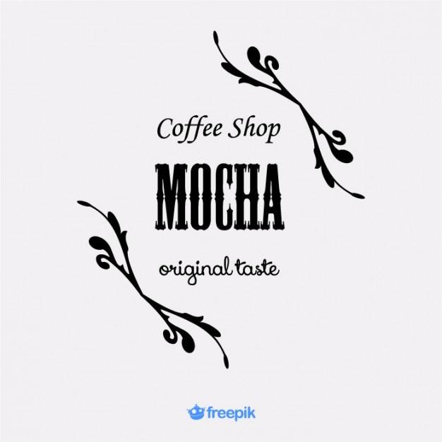 Elegant Logo Coffee Shop Mocha Vector