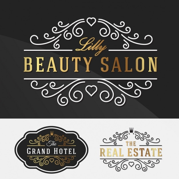 elegant logo templates collection vector free download