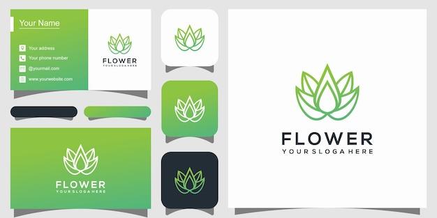 エレガントな蓮の花のロゴのテンプレート Premiumベクター