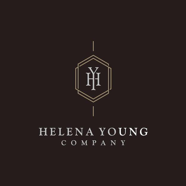 Elegant luxury initial monogram logo Premium Vector