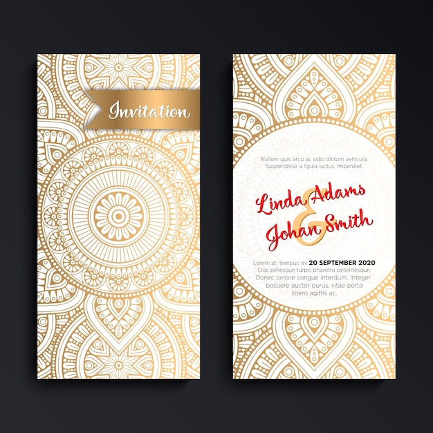 Elegant luxury wedding invitation card Vector – Exclusive Wedding Invitation Cards