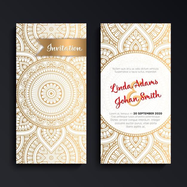 Luxury Wedding Cards Wedding Invitation B0036 Include: Elegant Luxury Wedding Invitation Card Vector