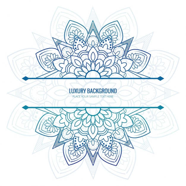 Elegant mandala background Free Vector
