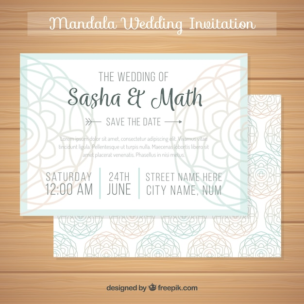 Download vector mandala wedding invitation concept vectorpicker elegant mandala wedding invitation stopboris Choice Image