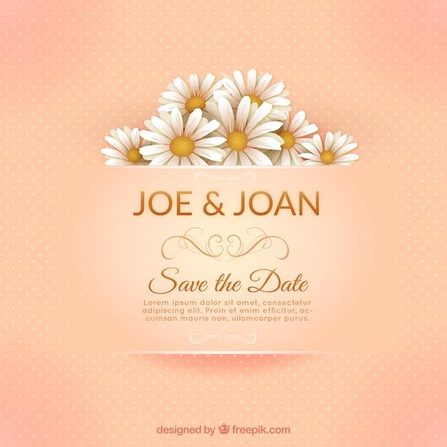 Elegant marriage invitation card Free Vector